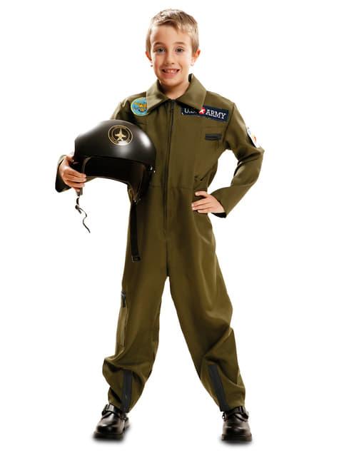 Costume da pilota dell'armata per bambino
