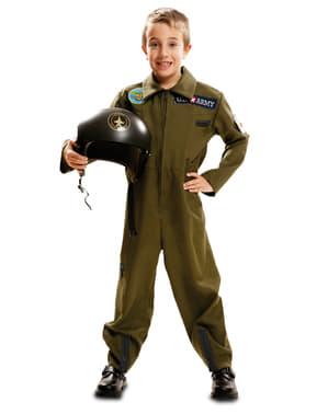 Fato de piloto da marinha para menino