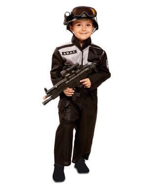 Fato de agente SWAT para menino