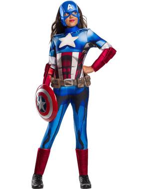Fato de Capitão América Os Vingadores para menina
