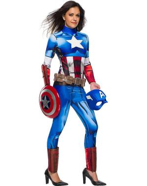 Fato de Capitão América para mulher