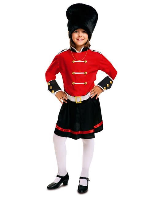 Fato de guarda real inglesa para menina