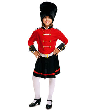 Disfraz de guardia real inglesa para niña