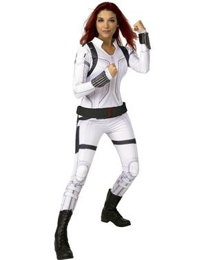 Hvidt Black Widow Kostume til kvinder