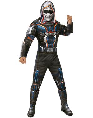 Taskmaster Svarta änkan dräkt för vuxna