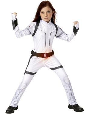 Disfraz de Viuda Negra blanco para niña