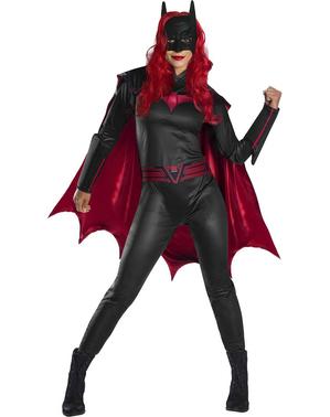 Batwoman mask med peruk för damer