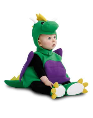 Fato de dinossauro adorável para bebé