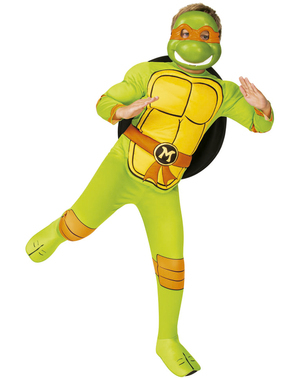 Fato de Michelangelo para menino - As Tartarugas Ninja