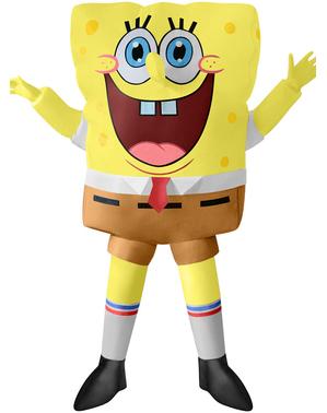 SpongeBob Schwammkopf Kostüm aufblasbar für Kinder