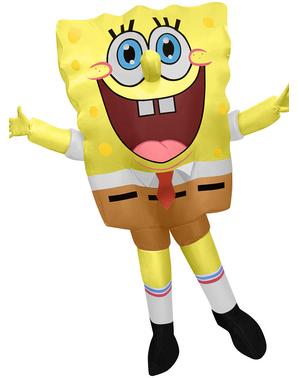 Uppblåsbar SpongeBob dräkt för vuxna