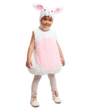 Kaninkostume i plys til børn