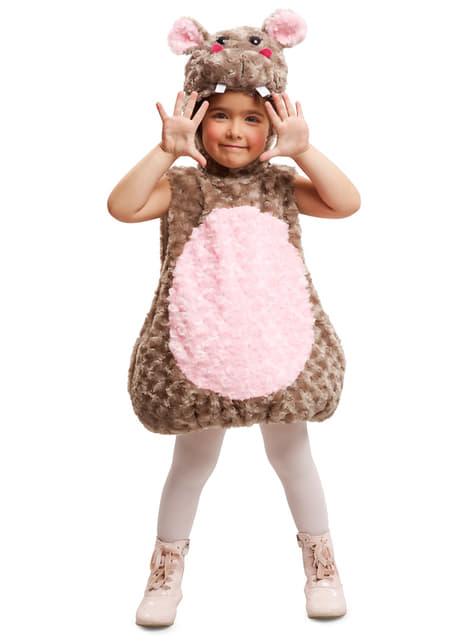 Disfraz de hipopótamo de peluche infantil