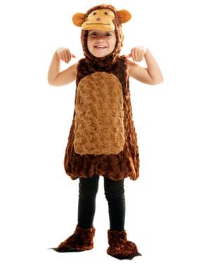 Pluche schattig aapje kostuum voor kinderen
