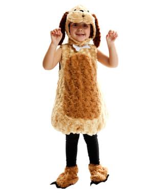 Costume da cane di peluche infantile