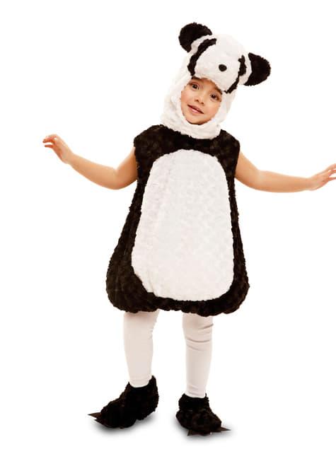 Fylt panda kostyme til barn