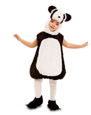Costum de urs panda de pluș pentru copii