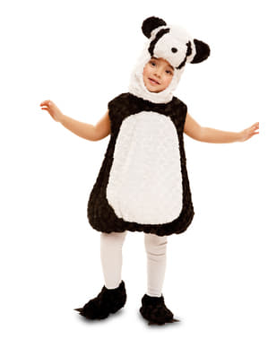 Pandabjørnekostume i plys til børn