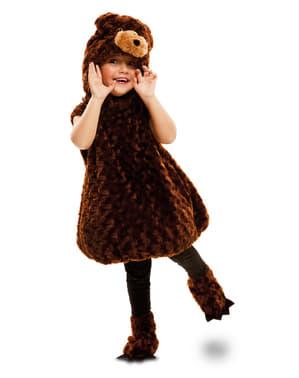 Costume da orso bruno di peluche infantile