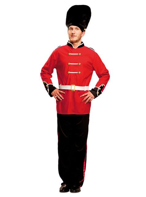 Disfraz de guardia real inglés para hombre