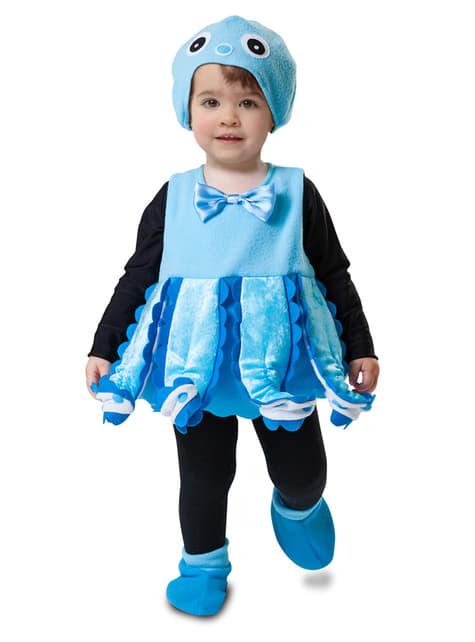 Tintenfisch Kostüm blau für Mädchen