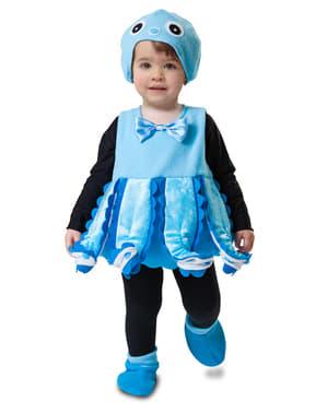 Disfraz de pulpo azul para niña