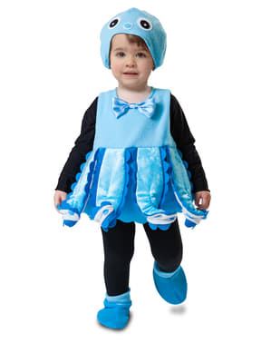 Girl's Blue Octopus Costume