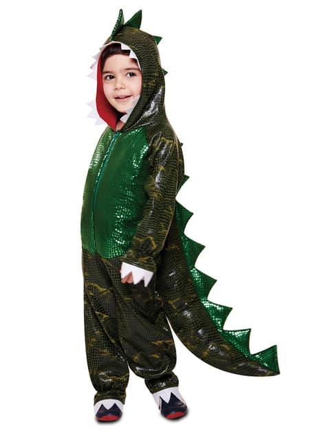 Fato de T-rex brilhante para menino