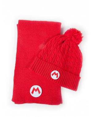 Super Mario Bros Beanie og Tørklæde Sæt - Nintendo