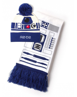 R2D2 Beanie and Scarf Set - Star Wars