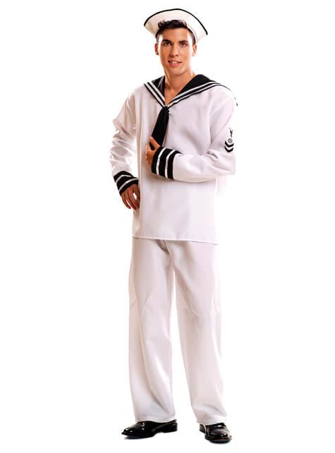 Déguisement marin blanc homme
