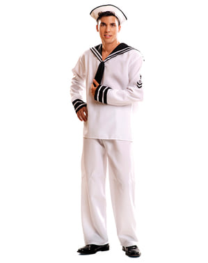 muški bijela mornarski kostim