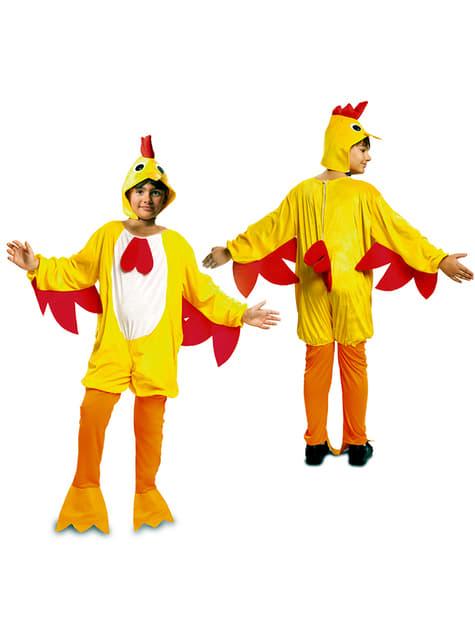 Disfraz de gallo del gallinero para niño - original