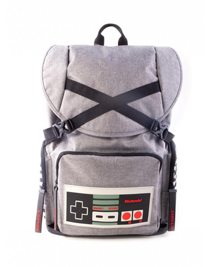 Harmaa Nintendo -Reppu