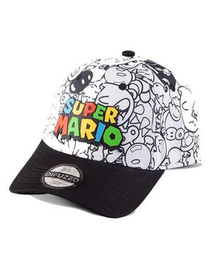 Super Mario Bros Comic Print Kappe - Nintendo