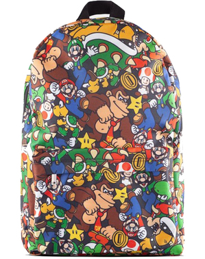 Super Mario Bros Patterned Backpack - Nintendo