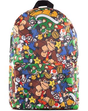 Super Mario Bros Patterned Backpack - נינטנדו