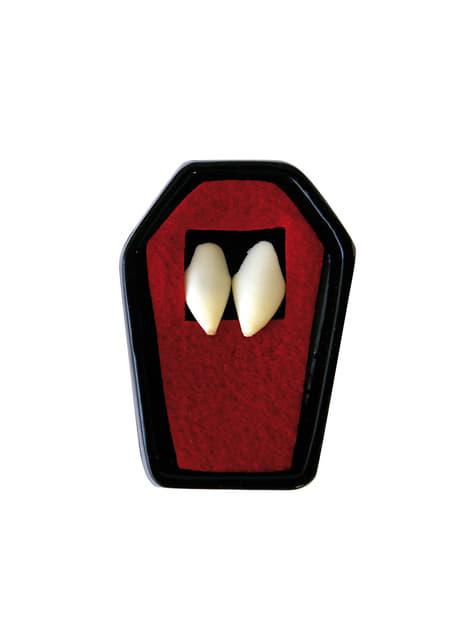 Dentes de vampiro afiados para adulto