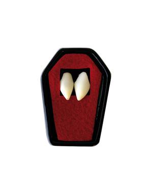 Dientes de vampiro afilados para adulto