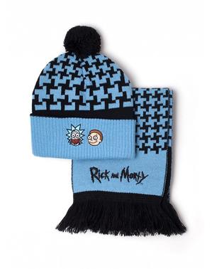Rick & Morty Mütze und Schal Set