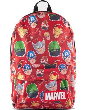 Czerwony Plecak Marvel z nadrukiem