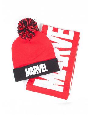 Marvel Mütze und Schal Set