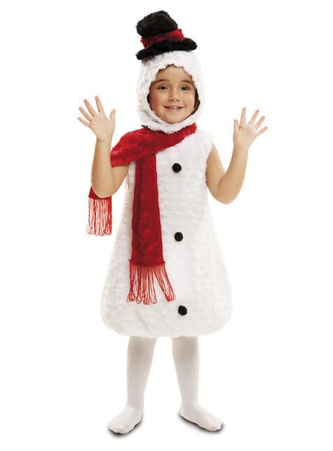 Fato de boneco de neve de peluche infantil