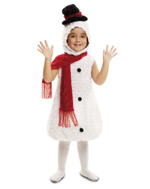 Costum om de zăpadă din pluș pentru copii