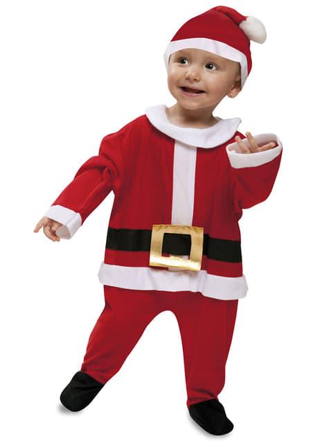 Disfraz de Papa Noel de terciopelo para bebé