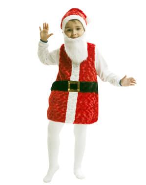 Julenisse plysj barn kostyme
