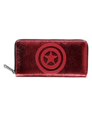 Röd Marvel plånbok för dam