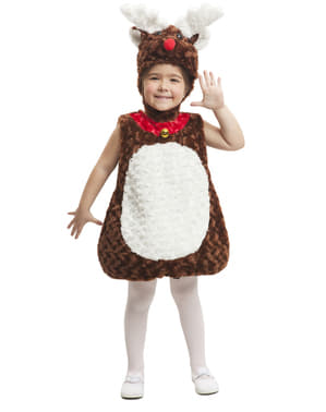 Kids's Stuffed Reindeer Costume