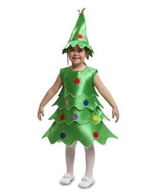 תלבושות עץ חג המולד השמחה של הילדה