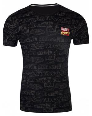 Marvel Comics T-skjorte i svart